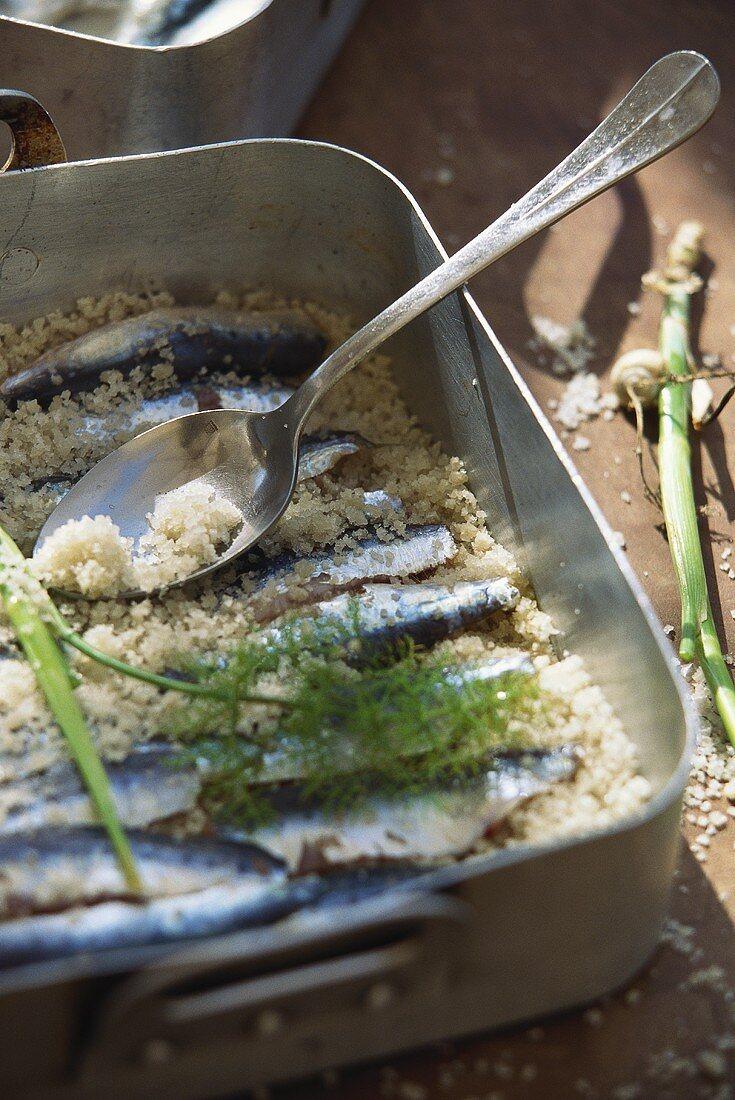 Provencal style marinated sardines