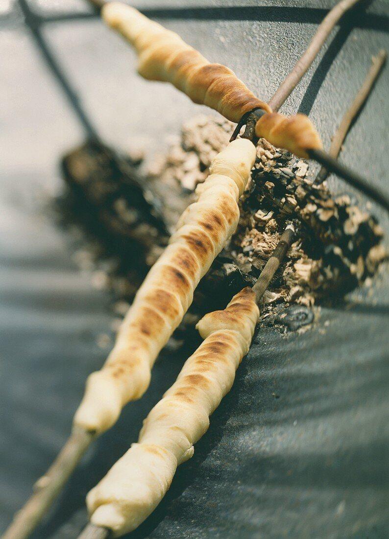 Stick bread (bread dough wrapped around a stick)