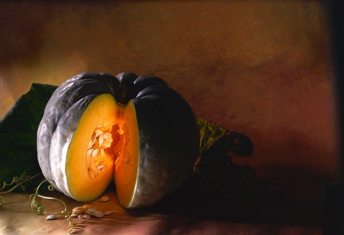 Cushaw (Japanese pumpkin), ribbed type