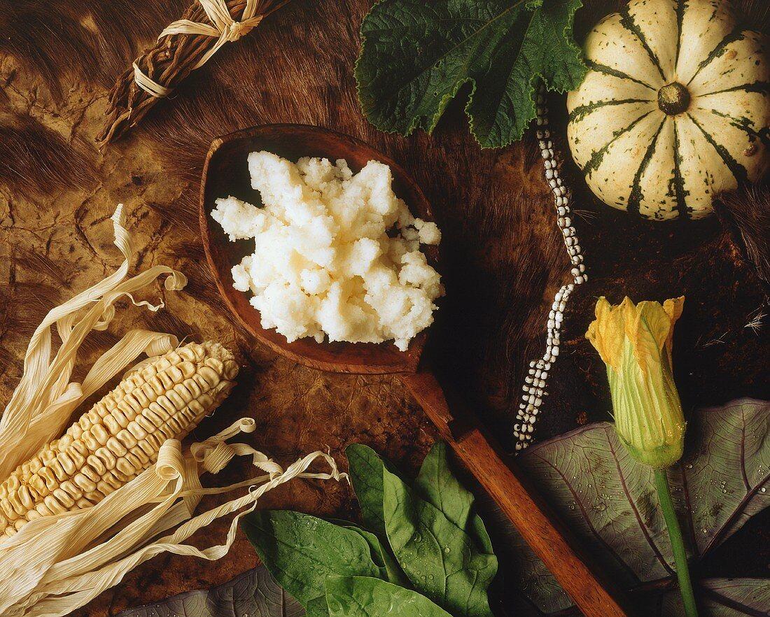 Pap (traditional S. African Bantu cornmeal porridge)