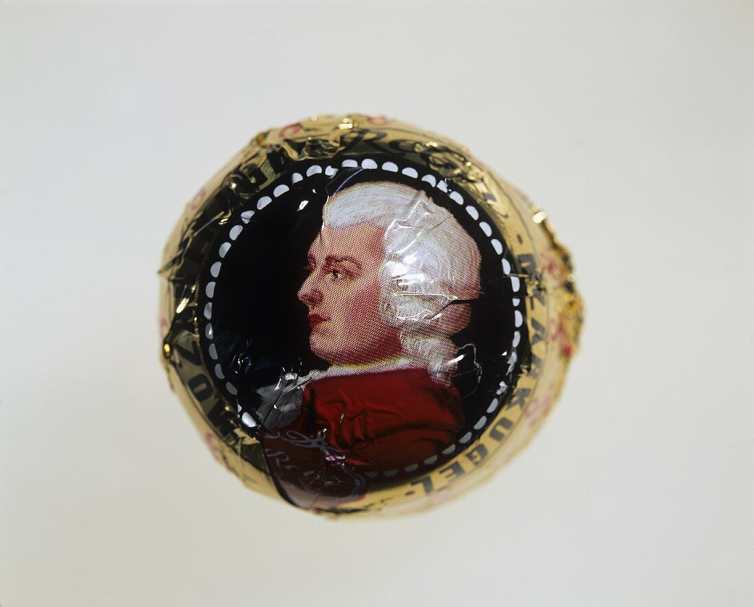 A wrapped Mozart kugel