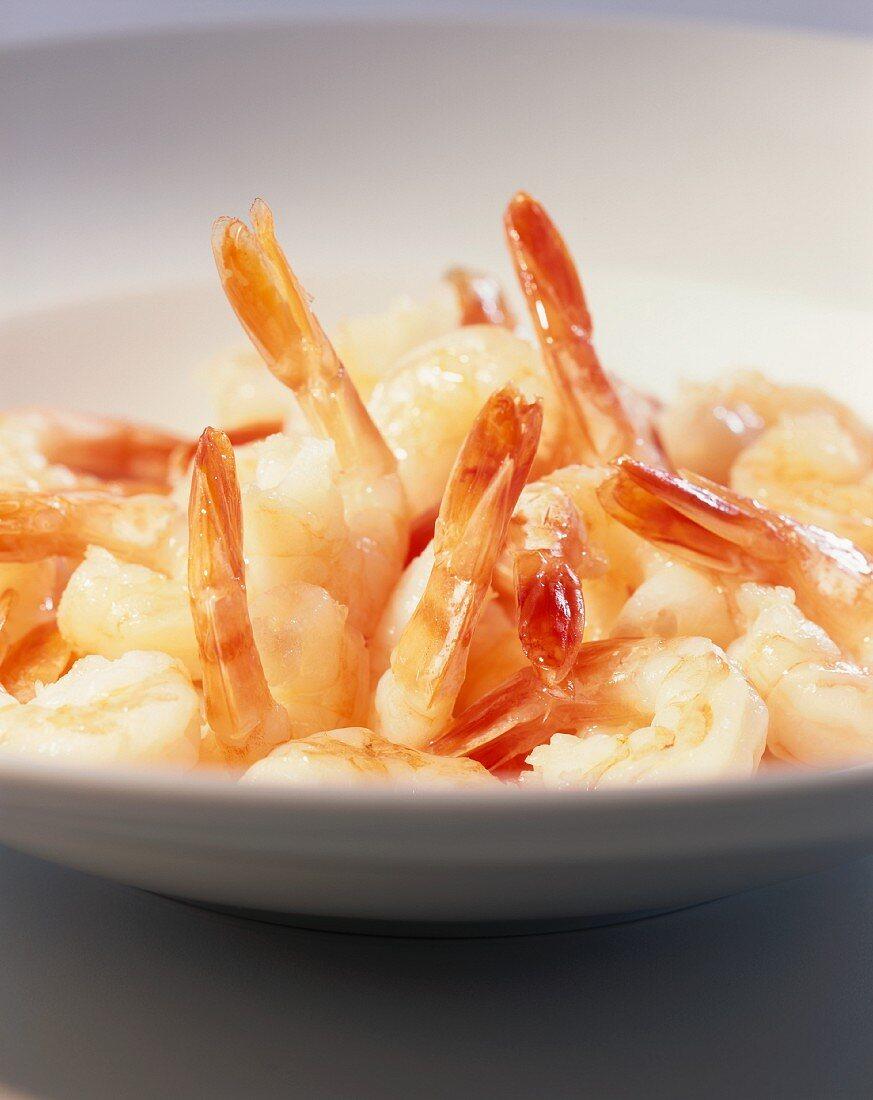 Boiled shrimp tails