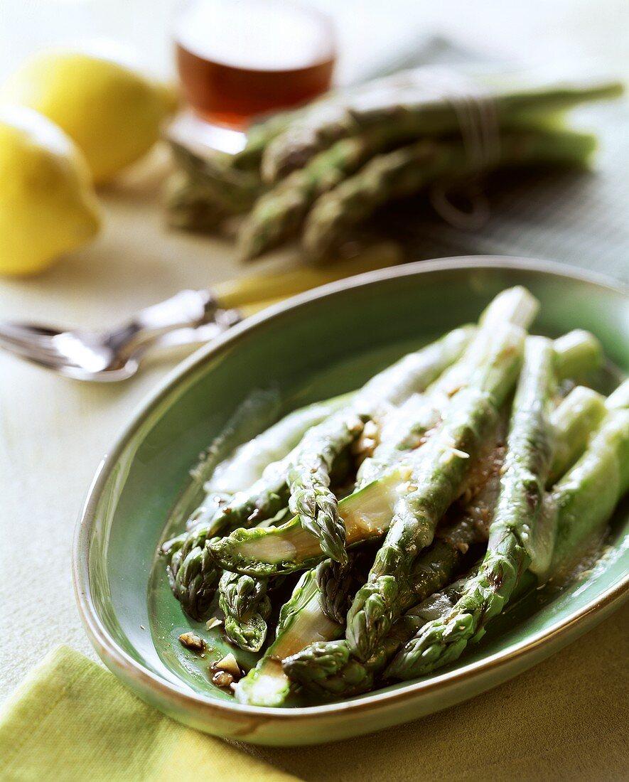 Asparagi gratinati (Green asparagus gratin with Parmigiano)