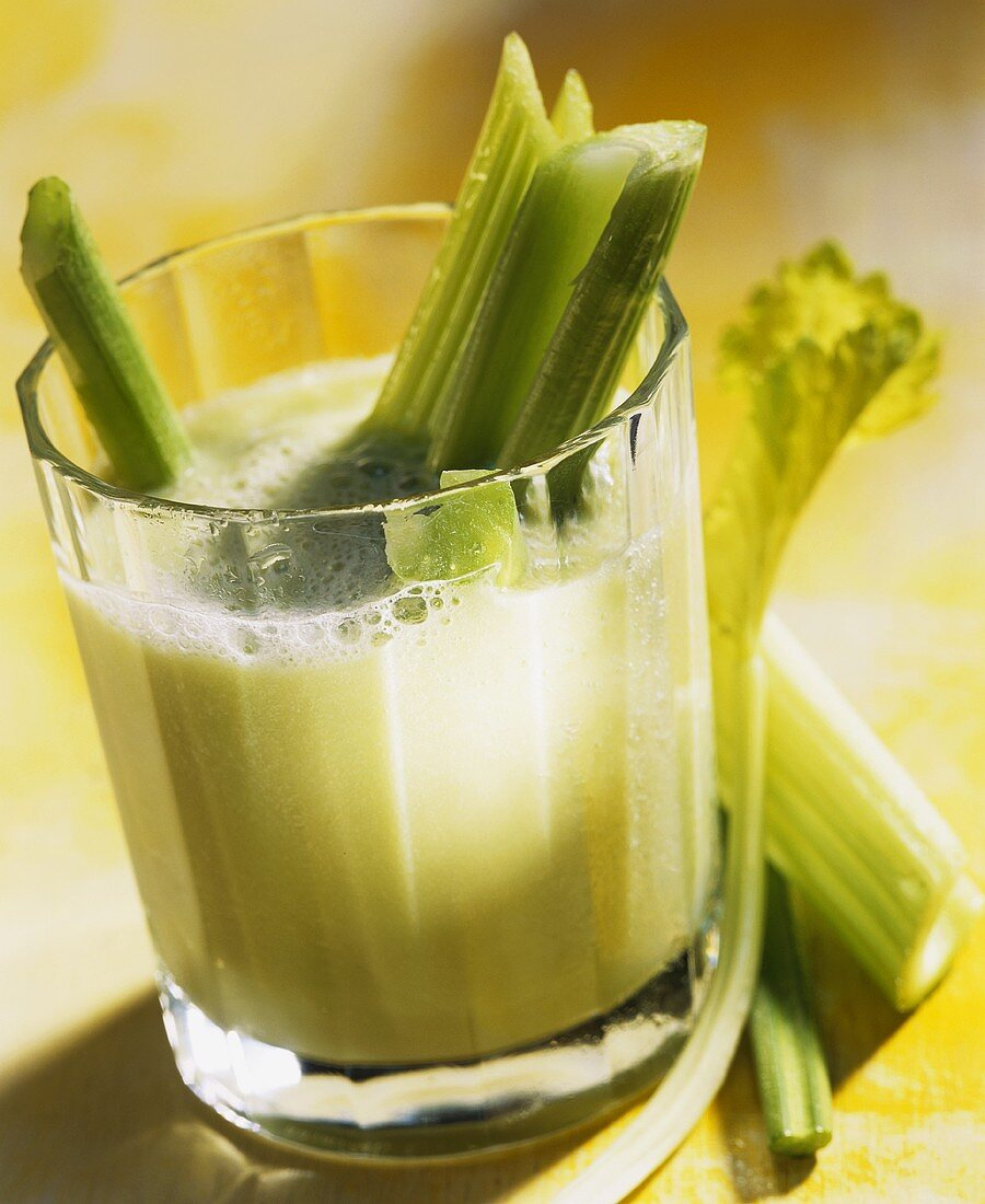 Whey drink with celery