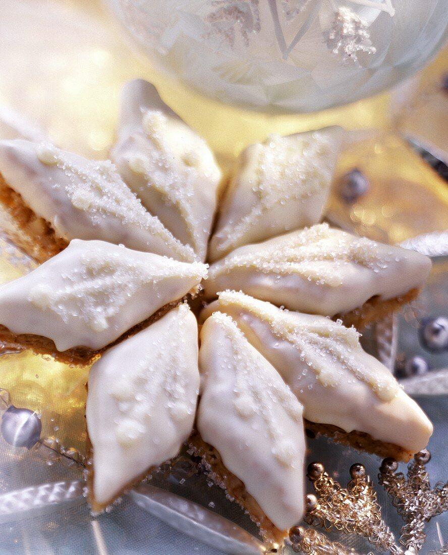 Oat & peanut diamonds, arranged in a star shape