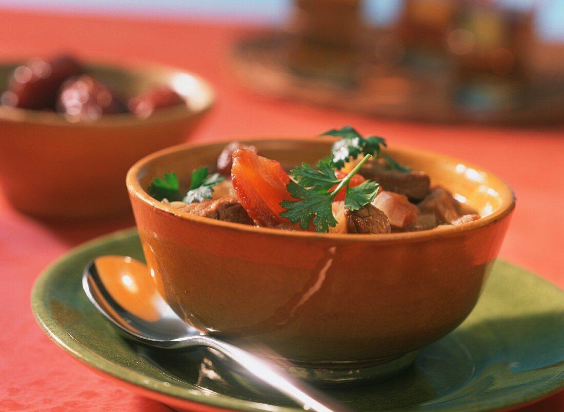 Saudi Arabian lamb and date soup