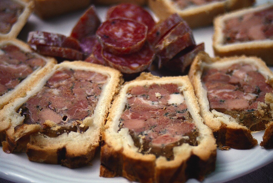 Paté en croute (Alsatian meat pate in bread dough)