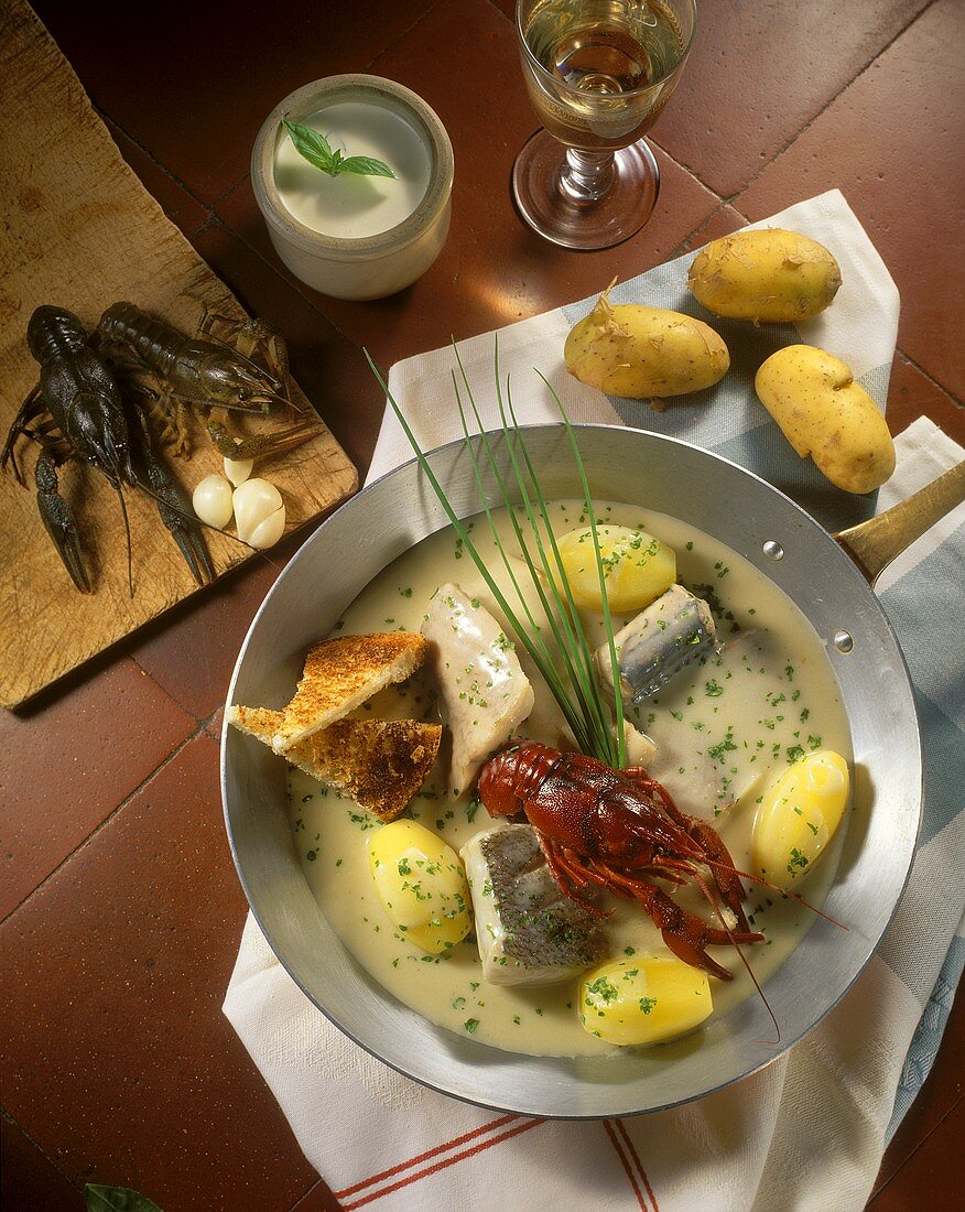 Pochouse (fish ragout) from the Saone valley, Burgundy