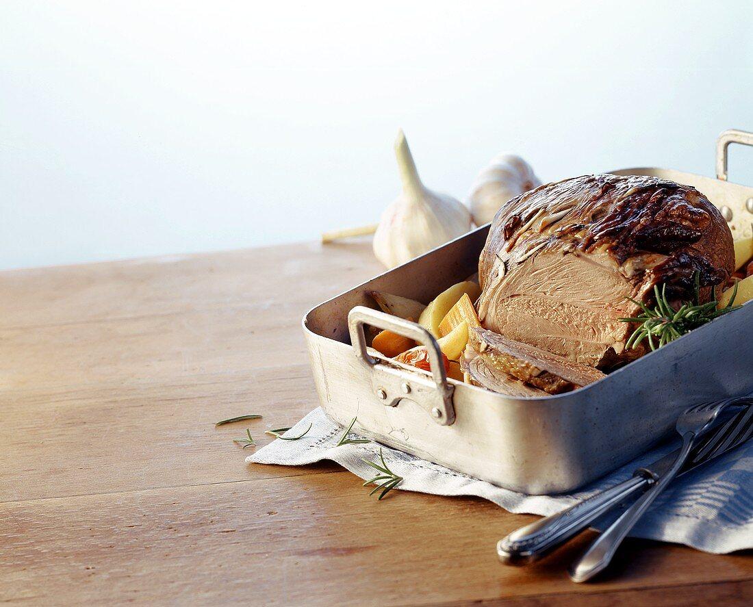 Oven-roast lamb (Kleftiko), Crete