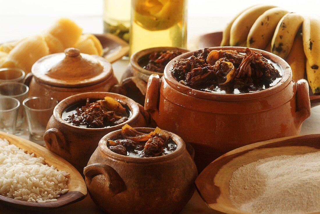 Barreado in terracotta pots (beef stew, Brazil)