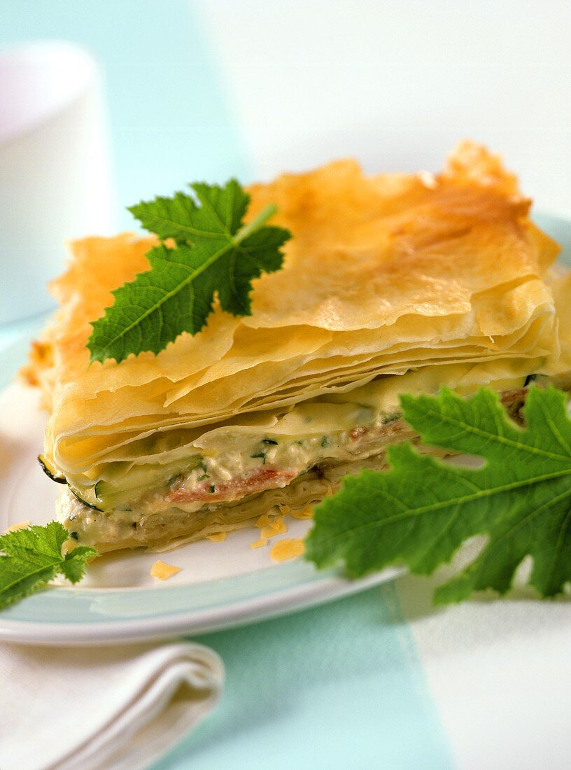 Börek with mixed vegetables and sheep's cheese