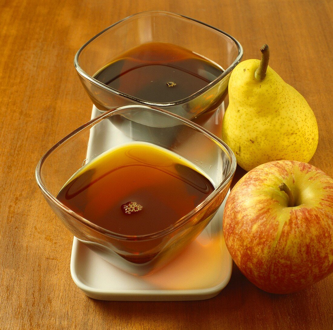 Concentrated apple and pear juice