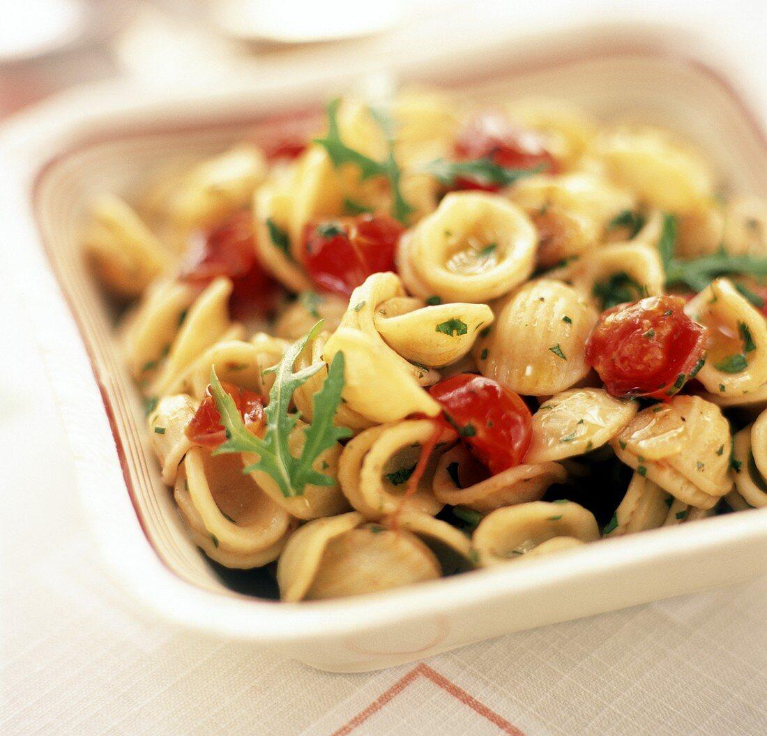 Orecchiette con la rucola (pasta with rocket), Apulia, Italy