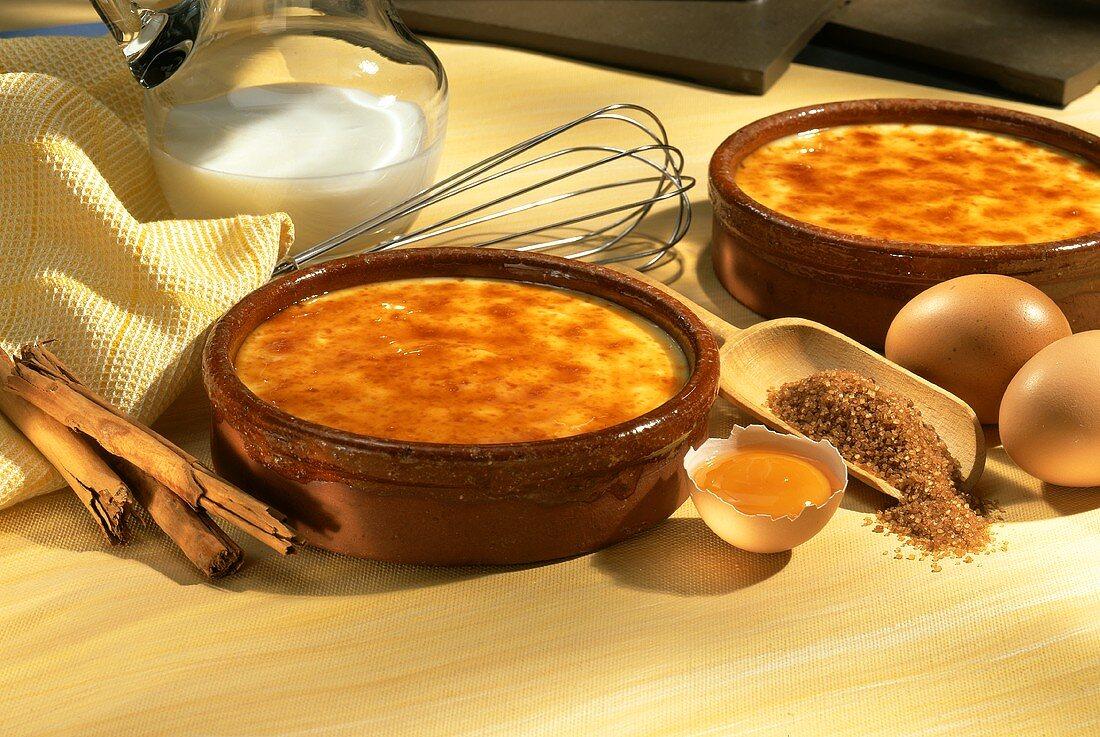 Crema catalana (vanilla cream with sugar crust, Spain)