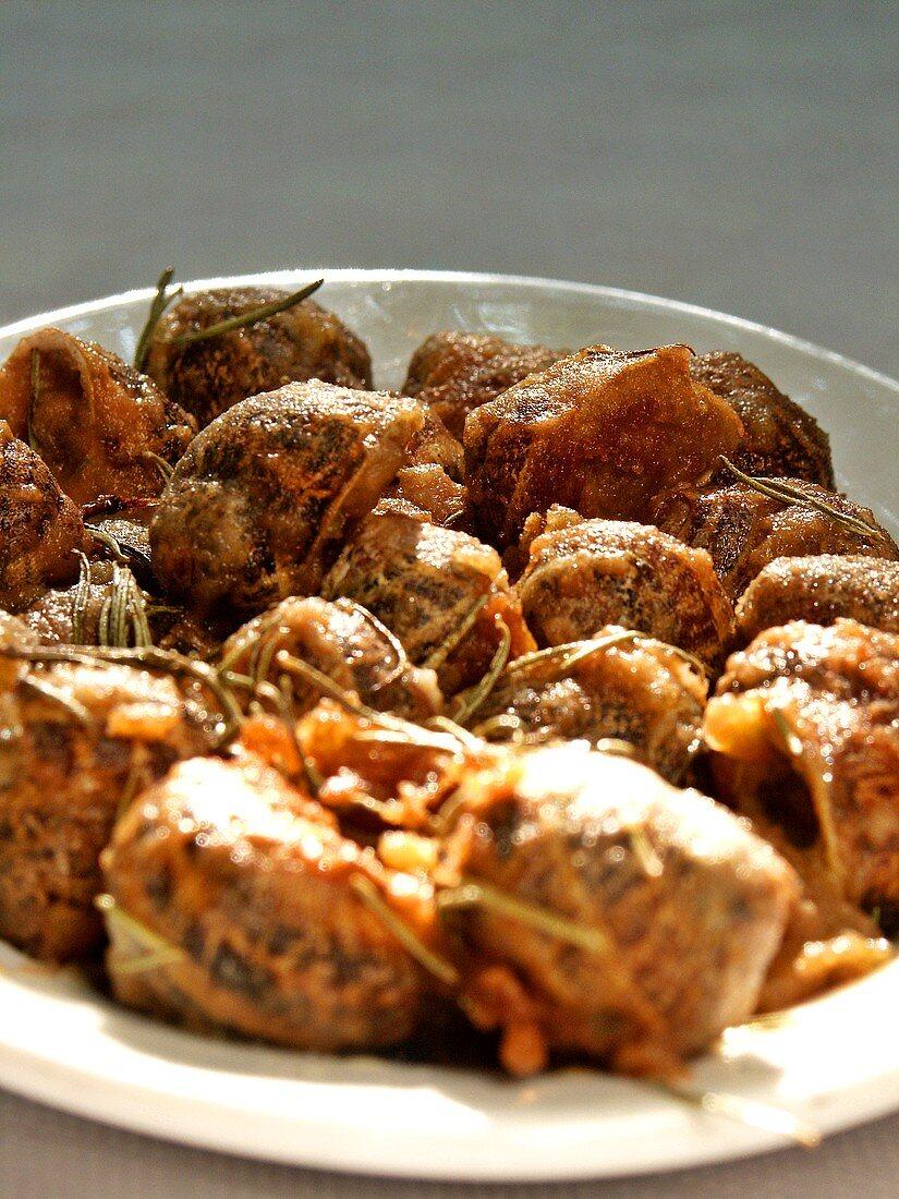 Xoxli (breaded, baked snails, Crete)