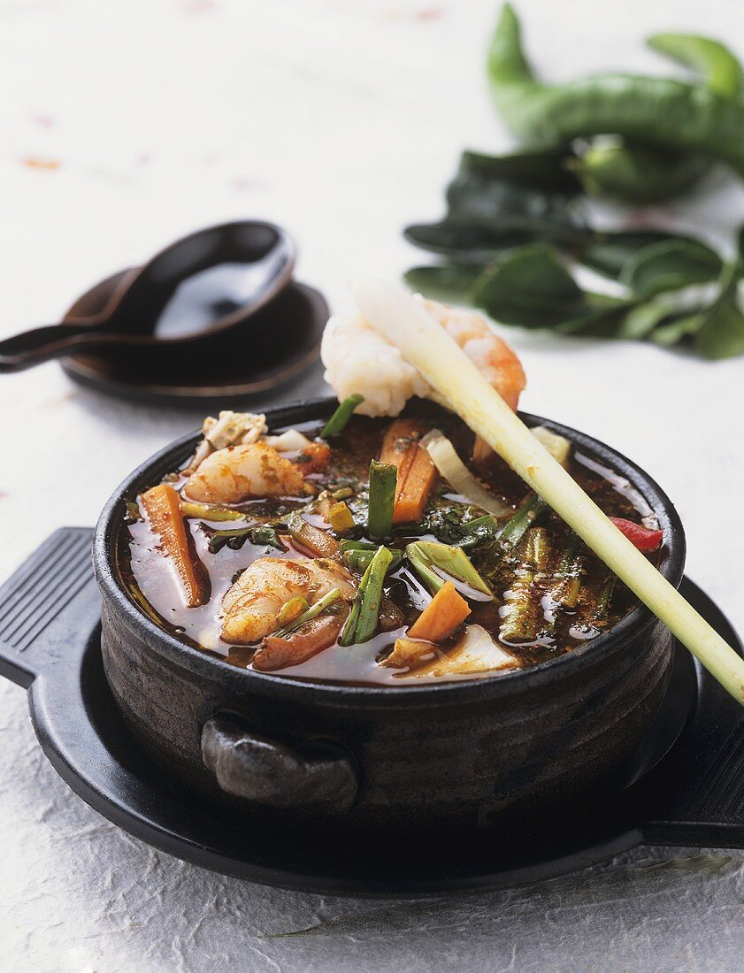 Fiery fish stew 'Sakana-Jiru'