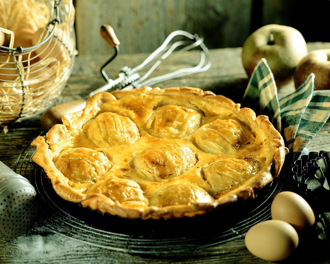 Apple tart (Normandy, France)