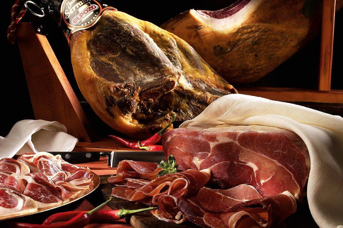 Jamón Serrano 'El Pozo' (air-dried ham, Spain)