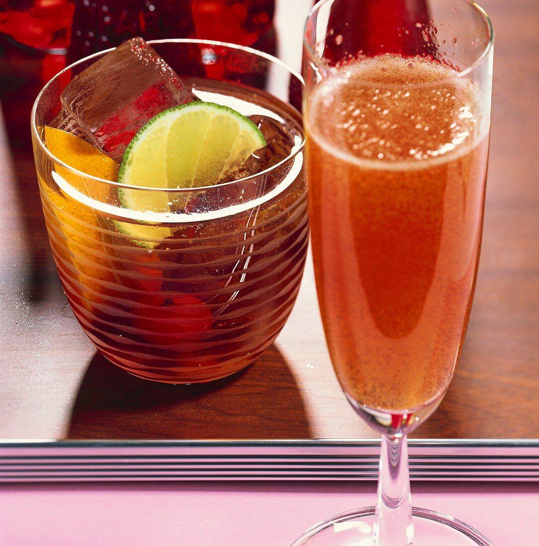 'Sbagliato' and 'Prince of Milano' (Campari cocktails)