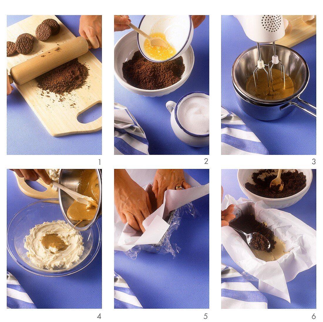 Making espresso parfait