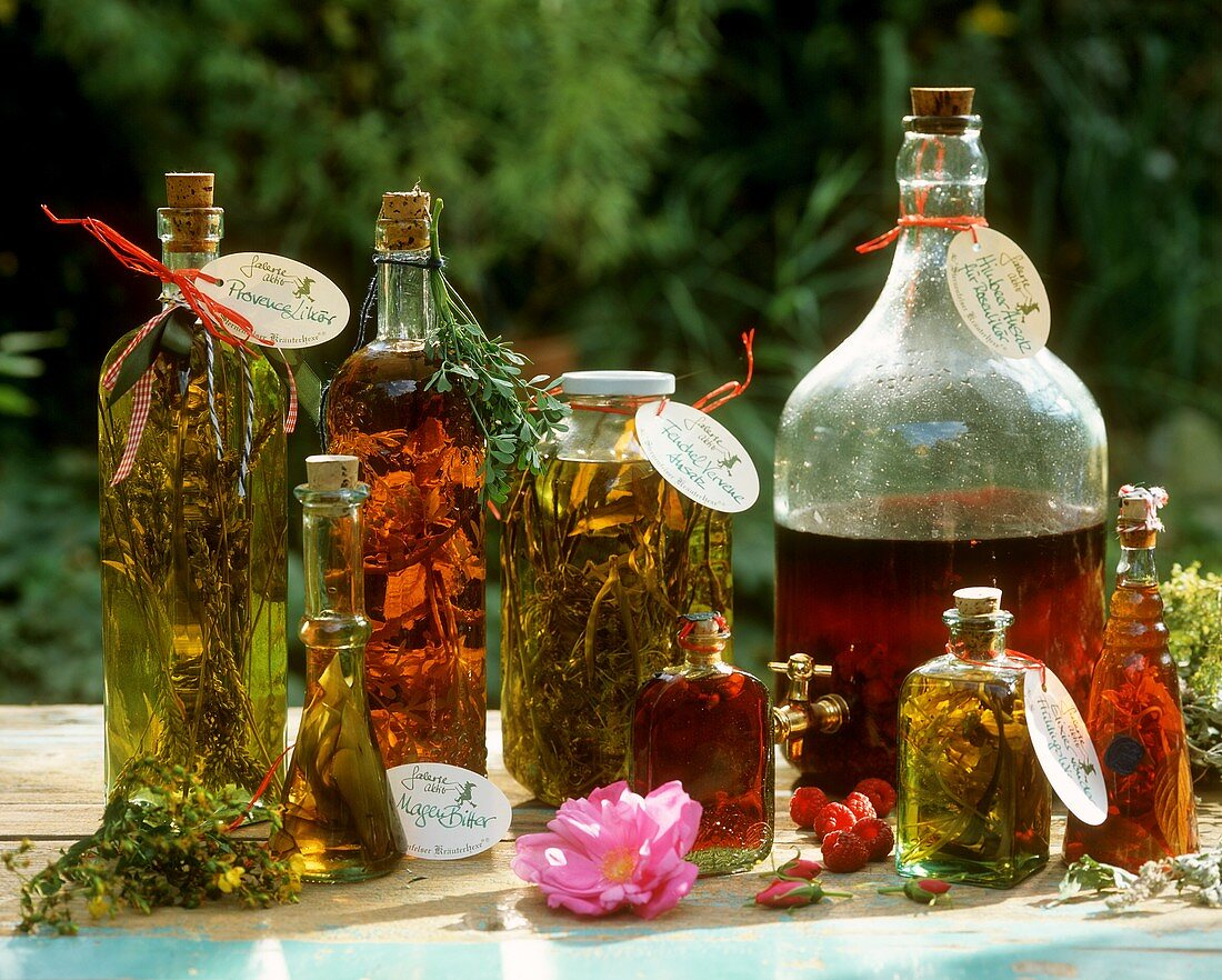 Herbal liqueurs, extracts and elixirs