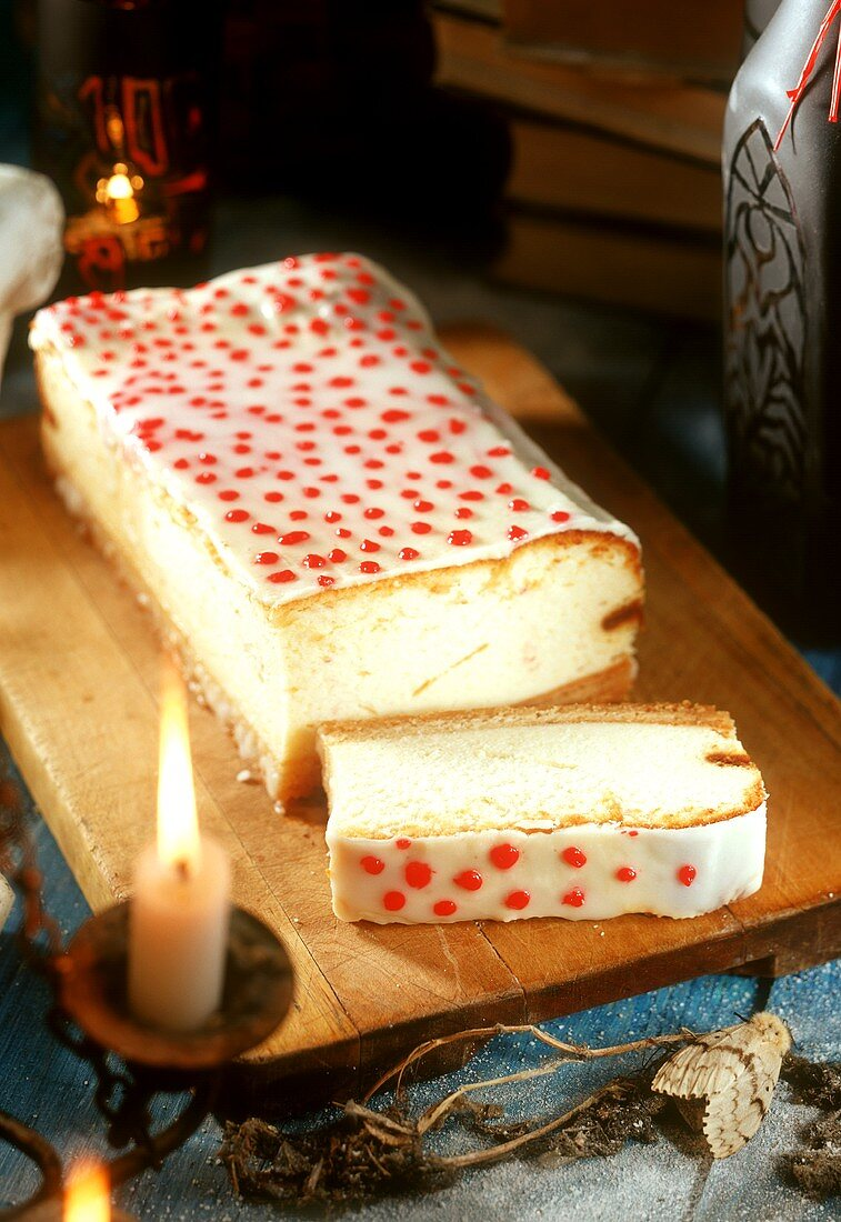 Speckled cheesecake for witch's party
