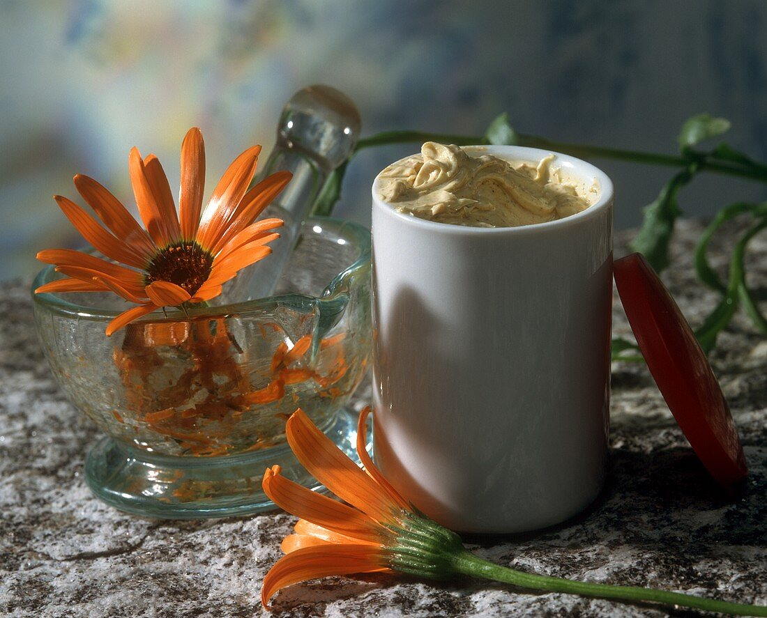Home-made marigold ointment
