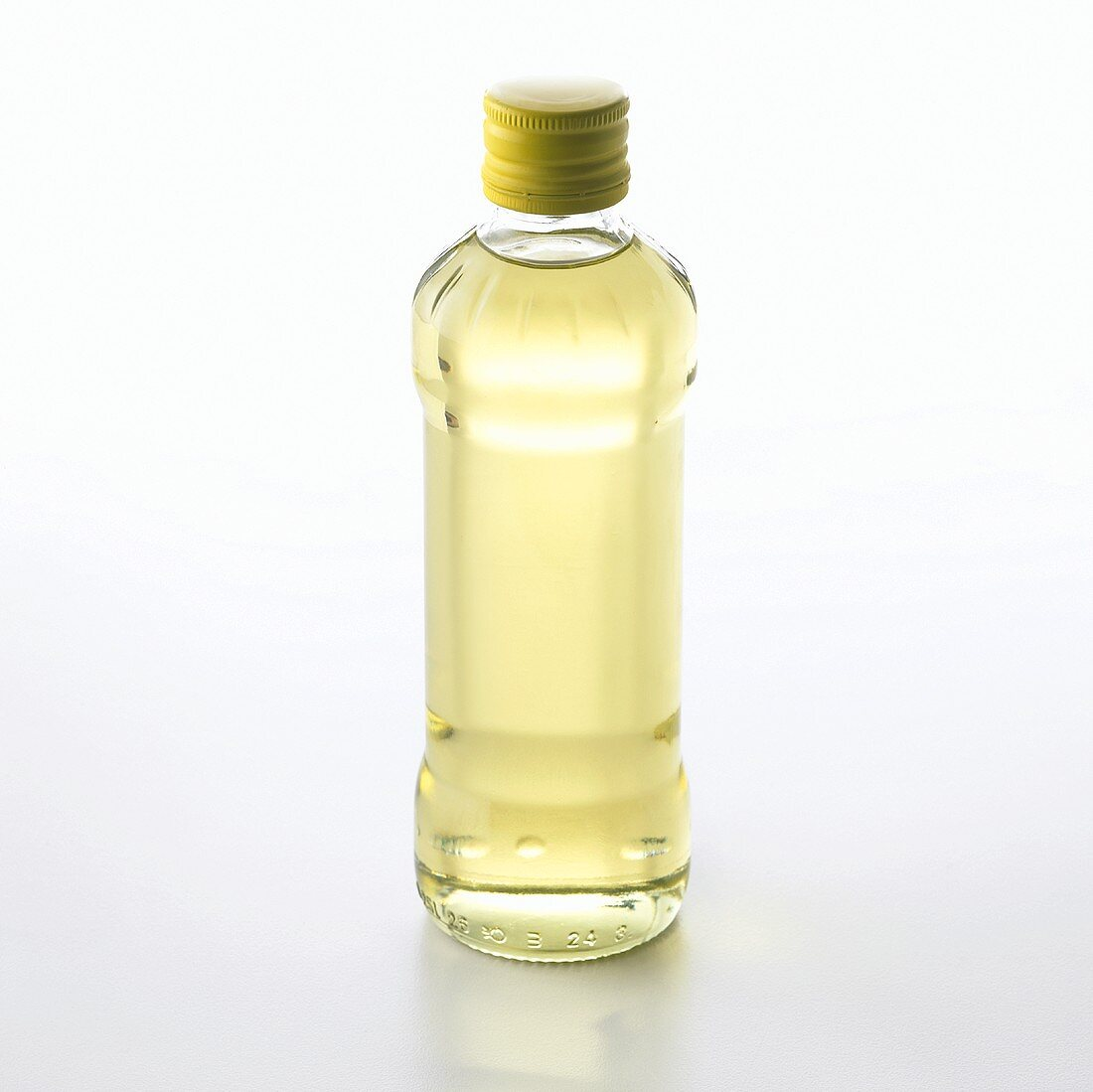 A bottle of vegetable cooking oil