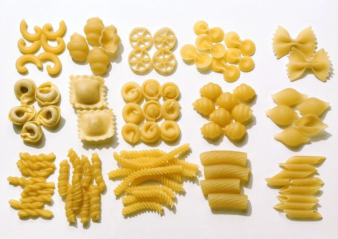Various types of pasta