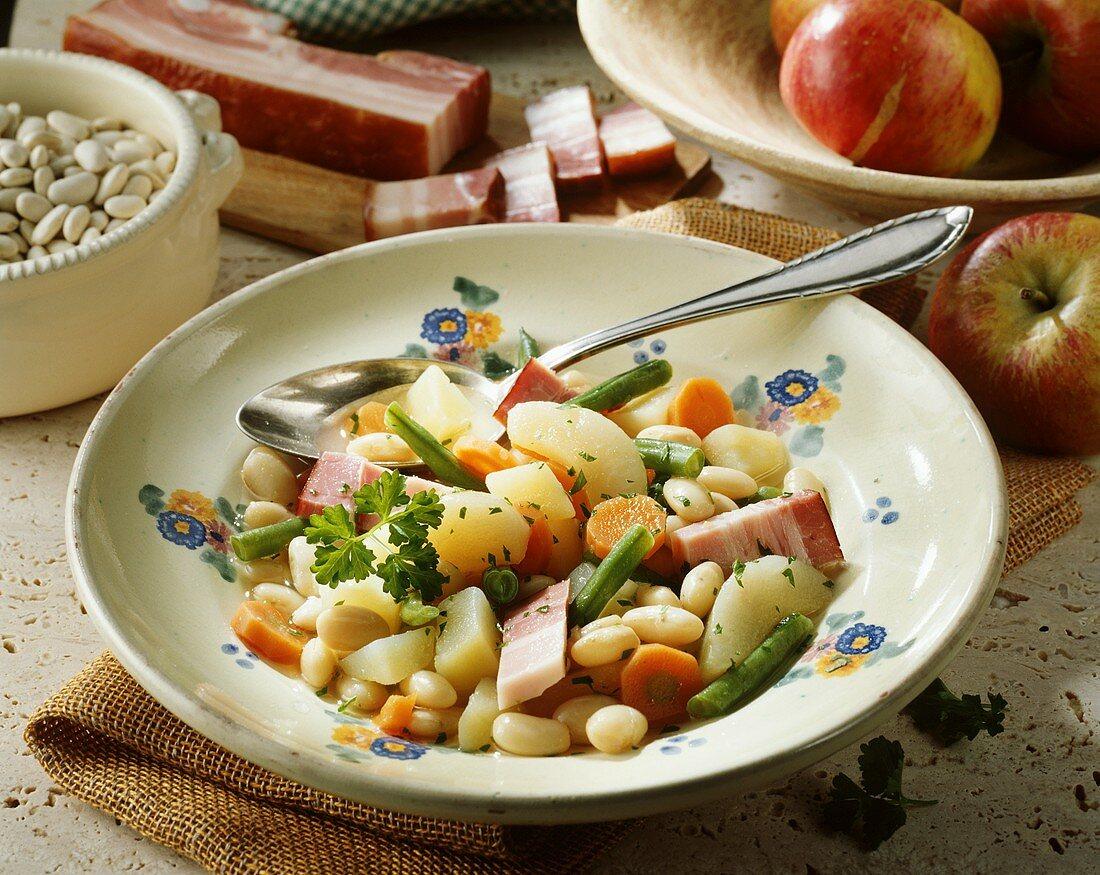 Westphalian 'Blind Hen' (stew from Westphalia, Germany)