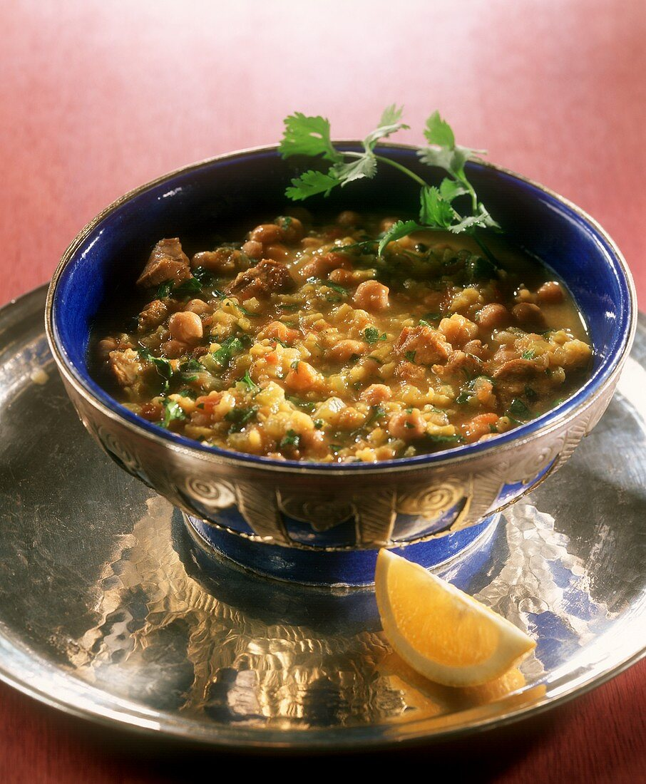 Chorbia fassia (meat & vegetable stew with lemon, Morocco)