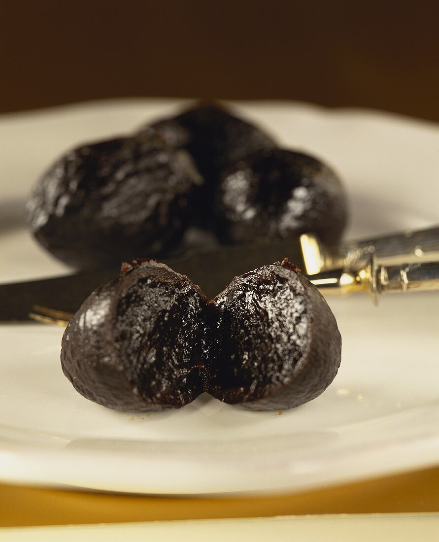 Pruneaux d'Agen (stuffed plums from Agen, Aquitaine)