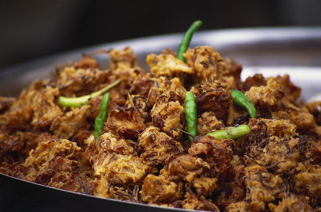 Kanda bhaji (deep-fried onions in batter, India)