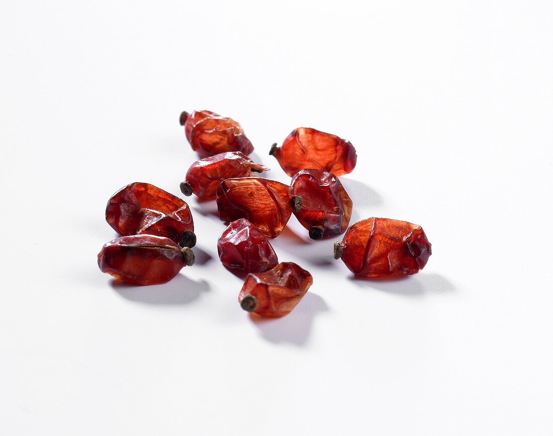 Several dried barberries