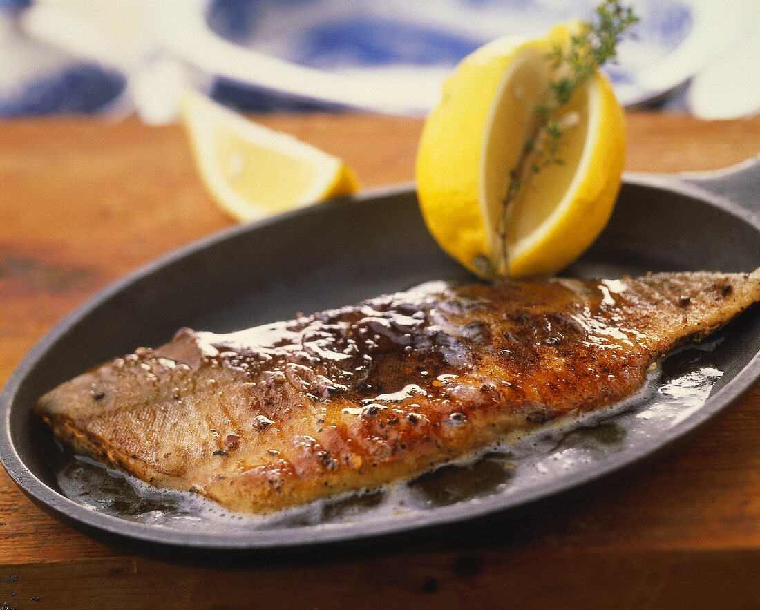 Salmon fillet in butter