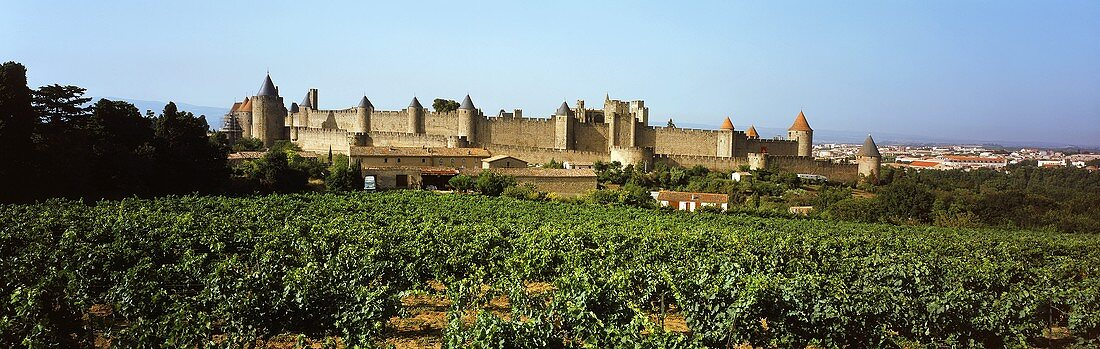 The historic old town of Carcassonne, Languedoc, France