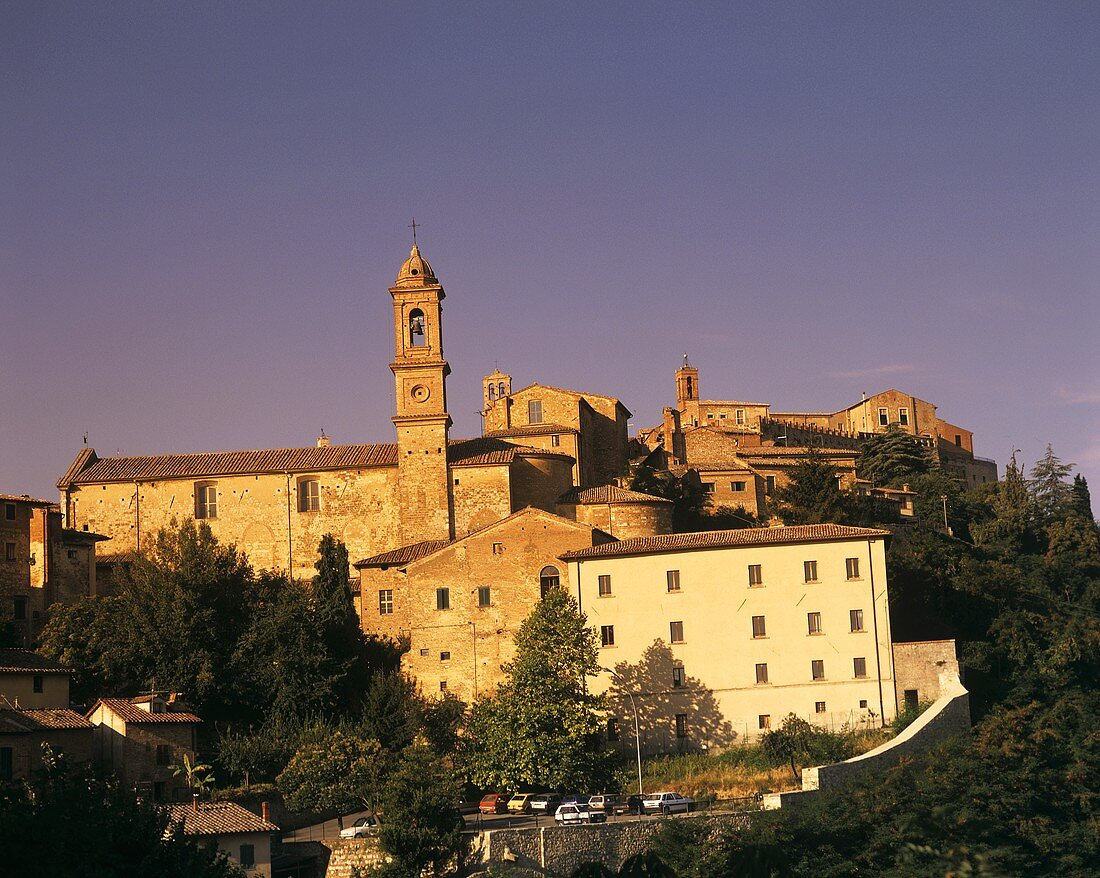Famous for wine-growing - Montalcino in Tuscany, Italy