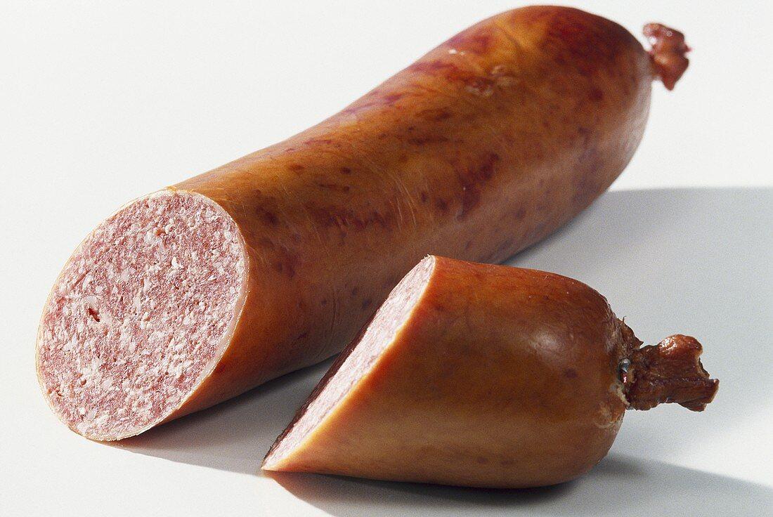Schlackwurst (raw-cured pork and beef sausage)