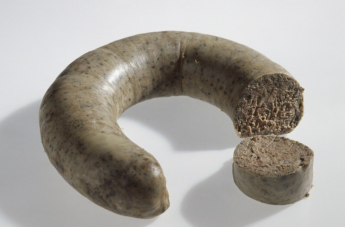 Palatinate liver sausage, in a ring