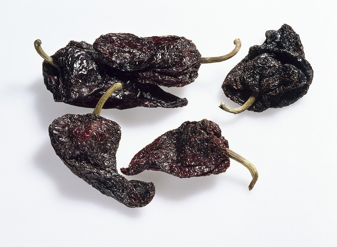 Chili peppers, variety 'Chile ancho', dried
