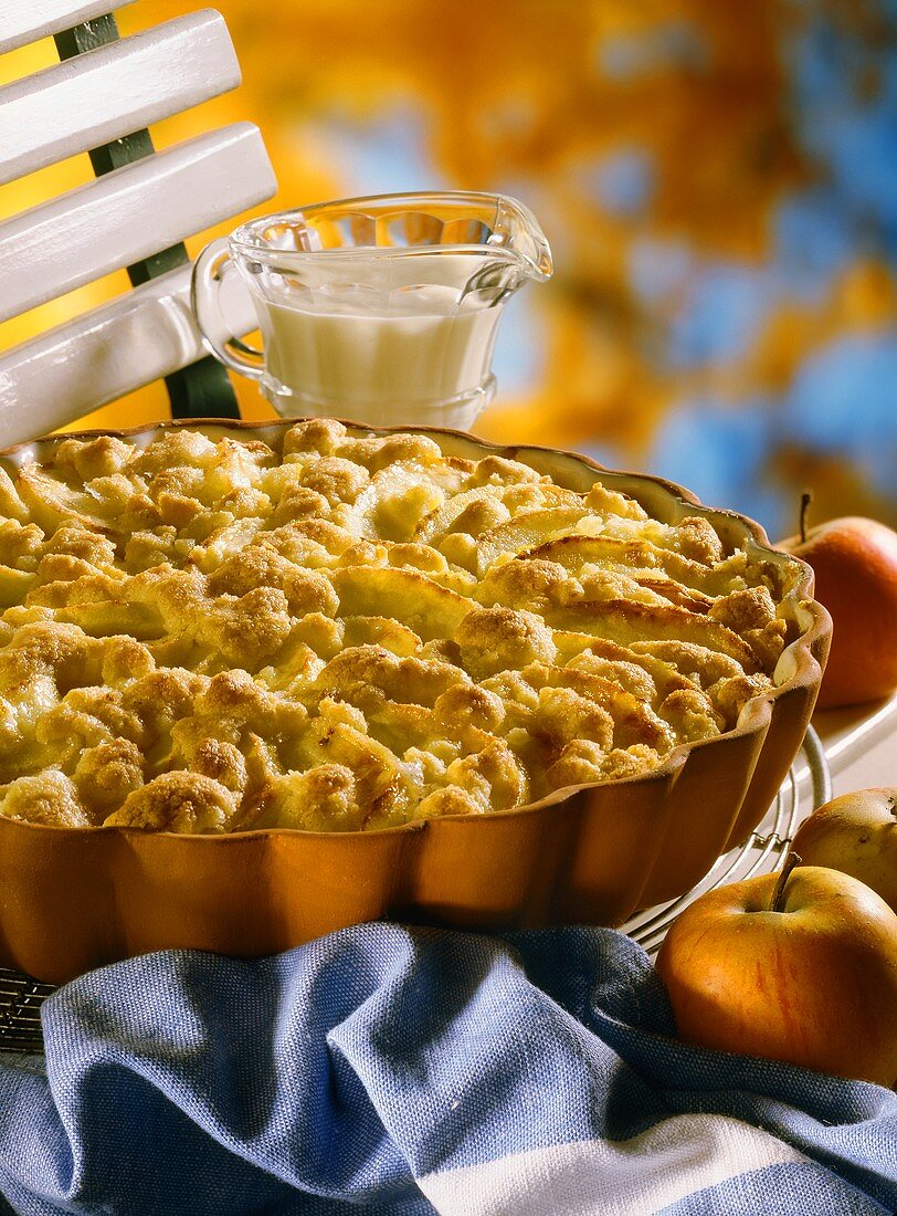 Apple and Cheese Bake with Vanilla Sauce