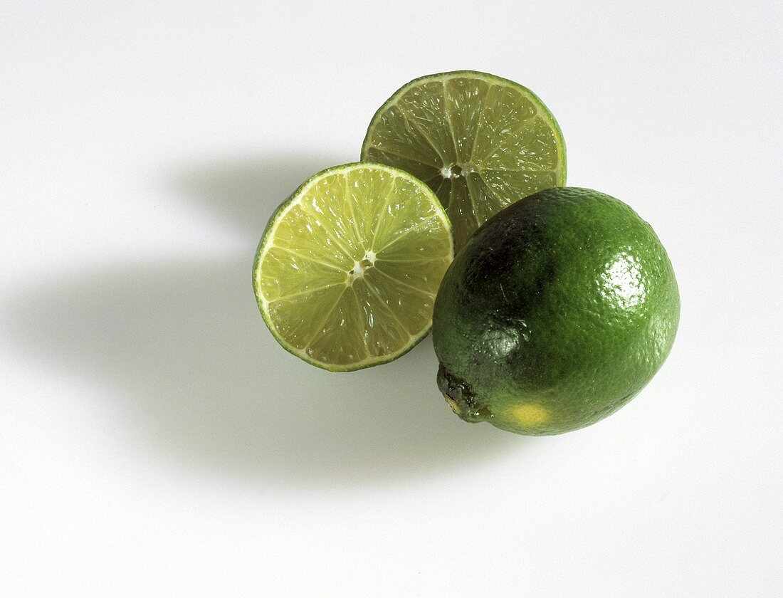 One Whole Lime with Two Lime SLices