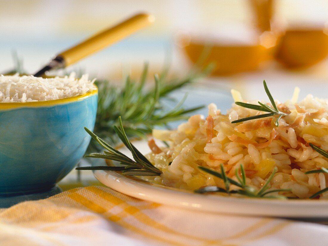 Risotto alla veneziana (potato risotto with ham)