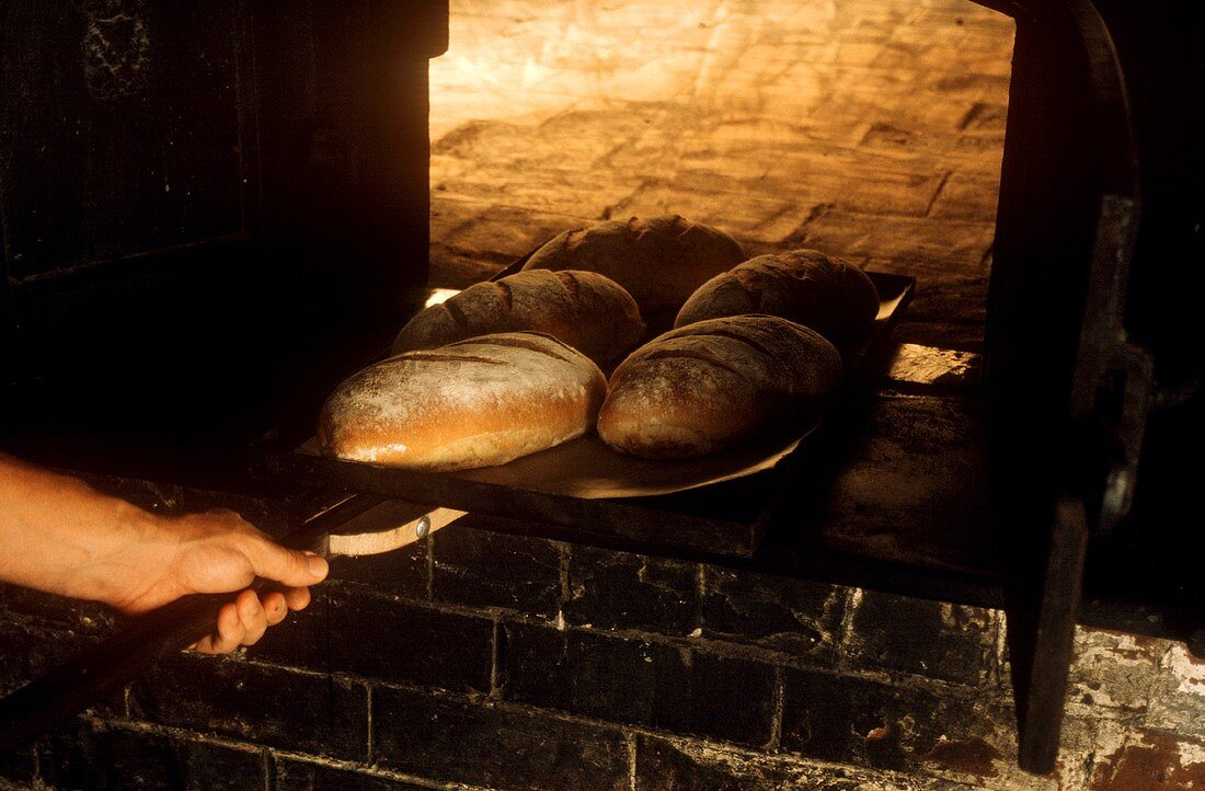 Fresh Baked Bread in Brick Oven in Australia