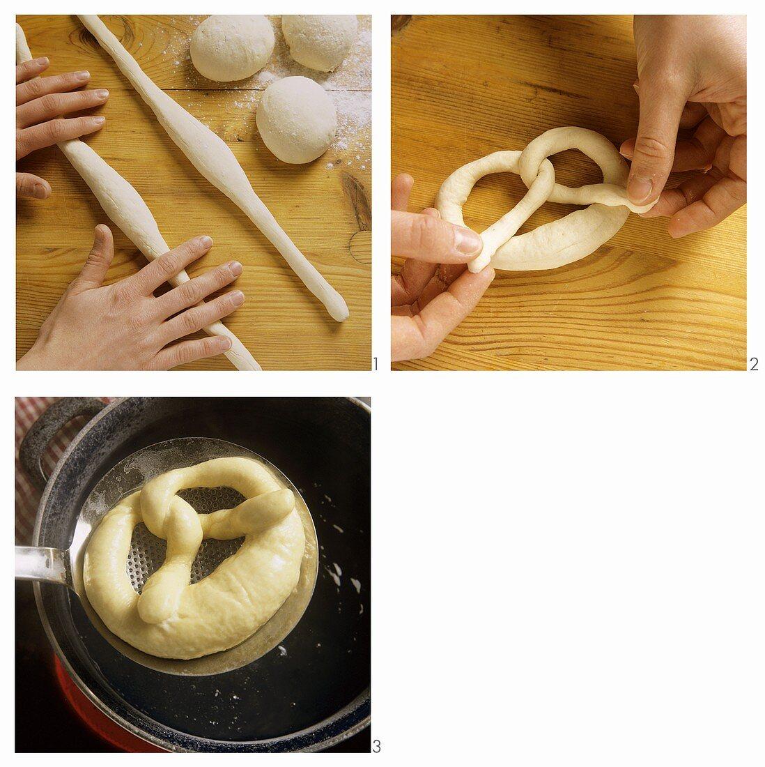 Making salt pretzels