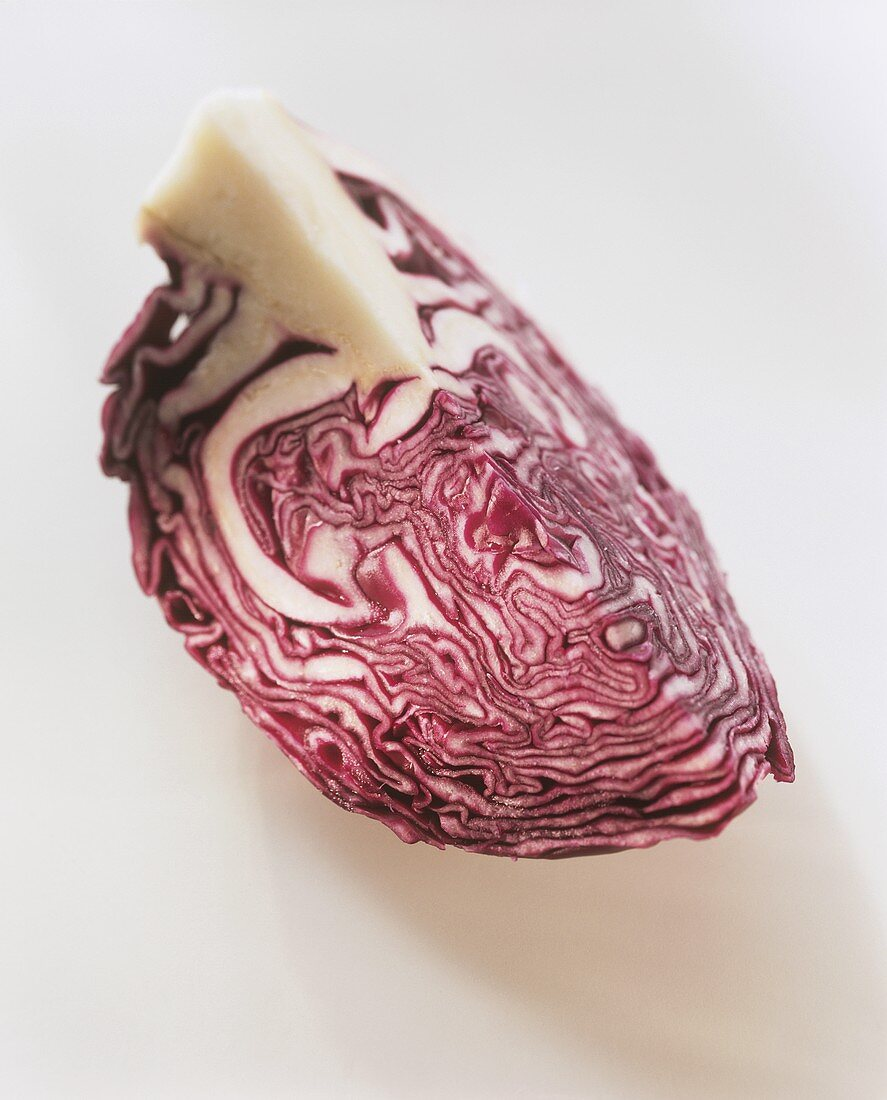 A quarter of a red cabbage