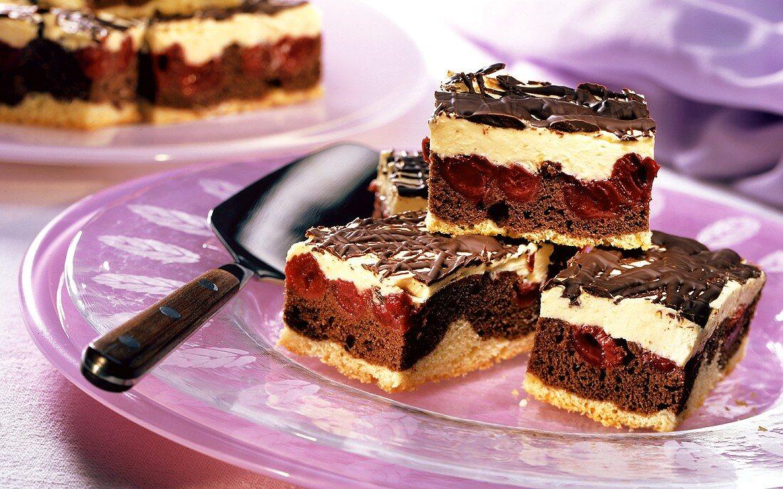 Chocolate & morello cherry cake (Waves on the Danube)