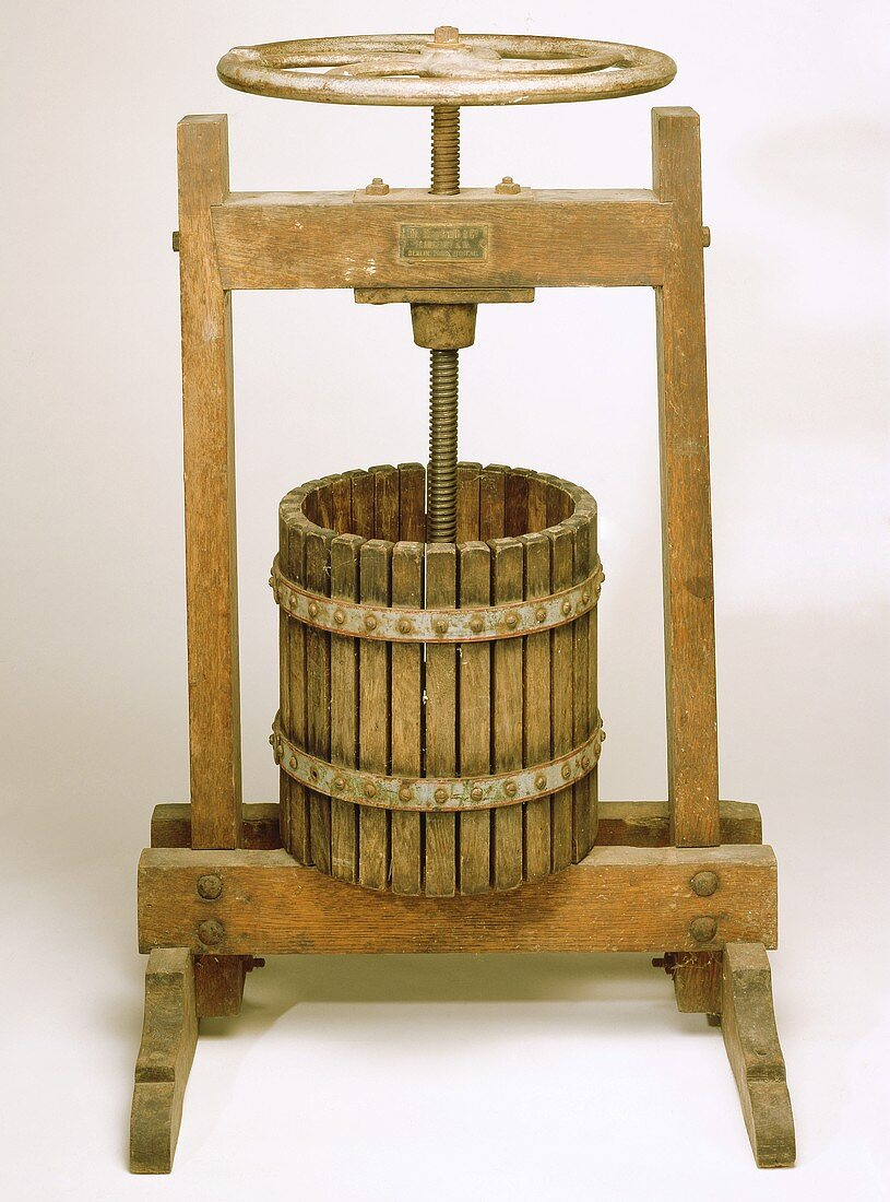 Old wine press of German manufacture