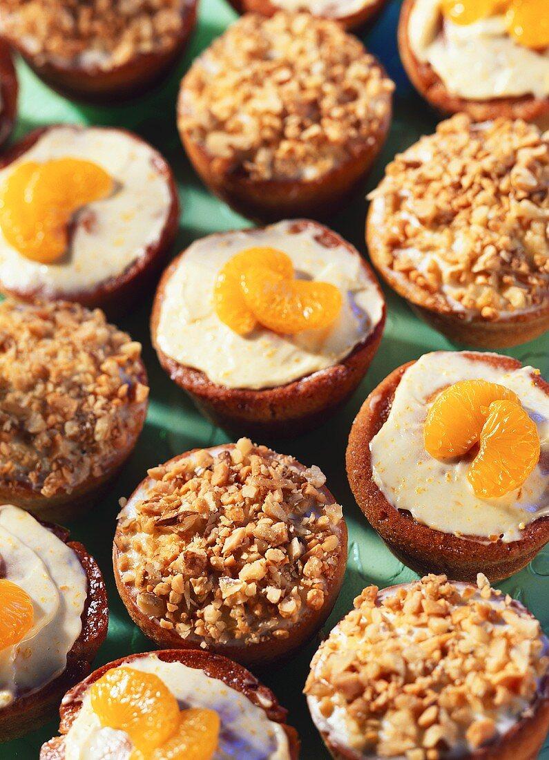 Mandarin muffins and grapefruit and nut muffins
