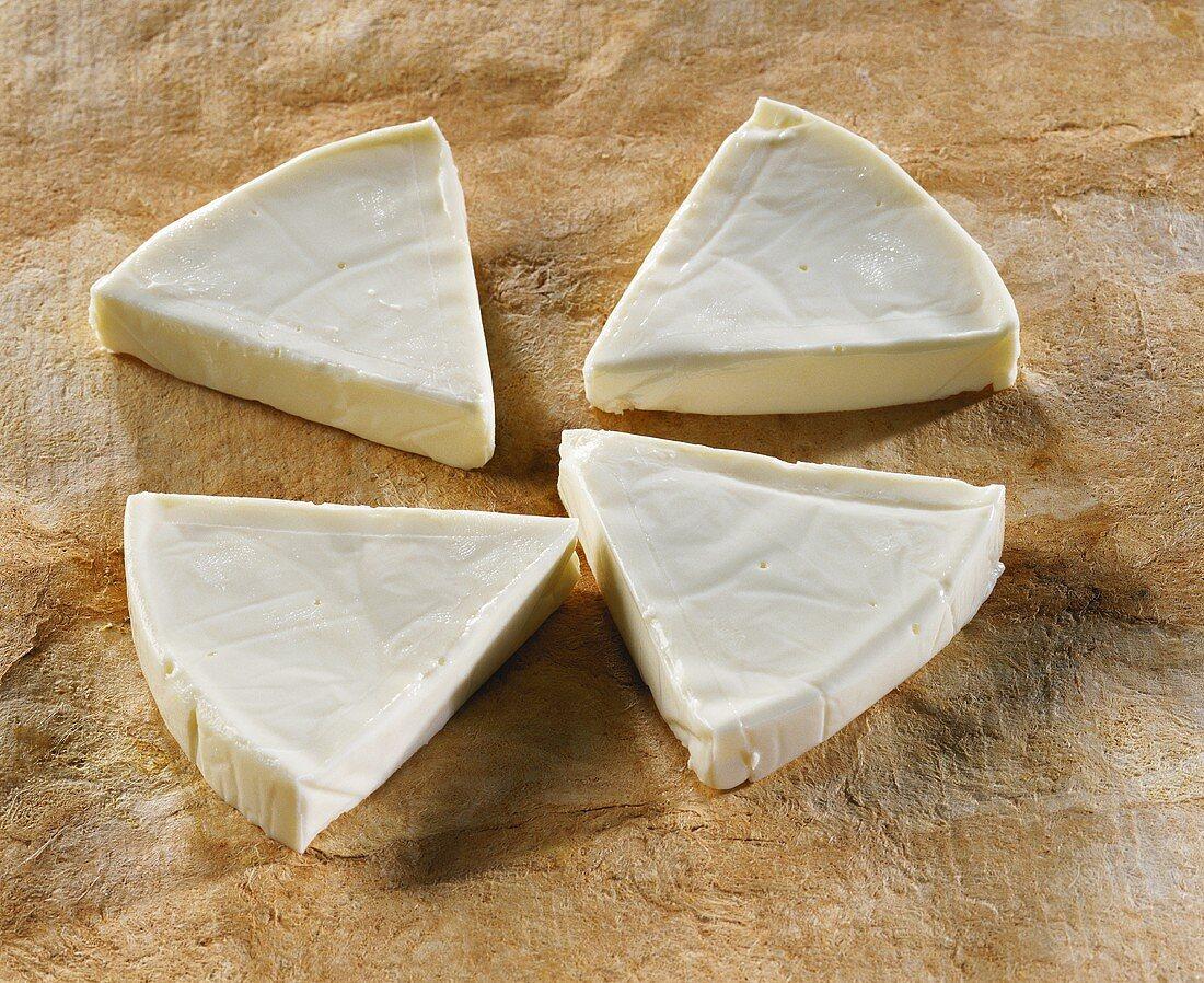 Crème de Gruyere, French processed cheese triangles
